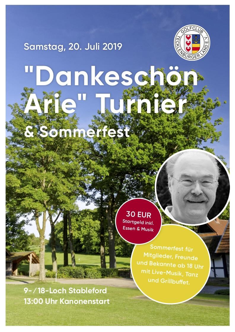 """""""Dankeschön Arie"""" Turnier & Sommerfest"""